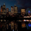 Downtown and Ferris Wheel - Melbourne