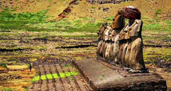 Great Moari's of Easter Island